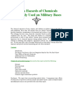 Health Hazards of Chemicals Commonly Used on Military Bases