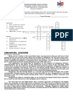 Singapore Sojourn Activity Sheets