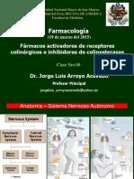 5. Farmacos Activadores de Receptores Colinergicos e Inhibidores de Colinesterasas