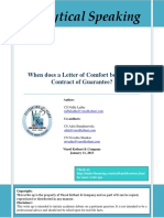When Does a Letter of Comfort Becomes a Contract of Guarantee