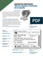 Como Leer Etiquetas e Informacion Para El Paciente