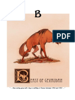 Mythical Creature Alphabet 'B'