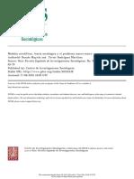 Modelos científicos, teoría sociológica, y el problema macro-micro