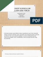 Prinsip Kurikulum Islam Dan Timur