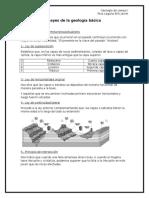 Leyes de la Geología básica y Generalidades del GPS portátil