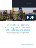 Where should I store my data? A guide to online and offline storage and access