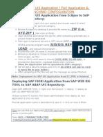 Deploying SAP UI5 Application