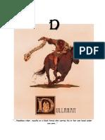 Mythical Creature Alphabet 'D'