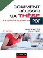 Comment r C3 A9ussir Sa Th C3 A8se - La Conduite Du Projet de Doctorat