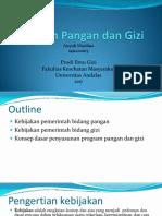 Program Pangan Dan Gizi