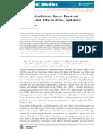Artigo - Anticapitalismo de MacIntyre