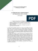 LE MERVEILLEUX ENSEIGNEMENT DU DIALOGUE AVEC L'ANGE