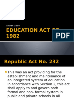 Education Act of 1982