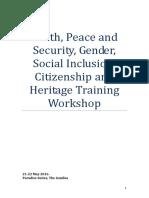 UNESCO Training workshop on Youth Report (Banjul 10+)