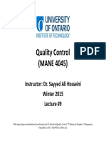 09 Quality Control Lecture #9