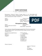 Contoh Surat Keputusan P2K3