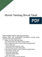 Metode Tambang Bawah Tanah3