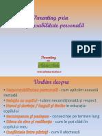Parenting Prin Responsabilitate Personala, Psiholog Si Trainer Adriana Nicolae (Tematica Seminar)