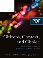 (Comparative Study of Electoral Systems) Russell J. Dalton, Christopher J. Anderson-Citizens, Context, And Choice_ How Context Shapes Citizens' Electoral Choices (Comparative Study of Electoral System