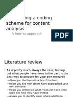 Developing a Coding Scheme