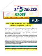 Killer Preparations Tips and Tricks for Bank PO& IBPS PO Written Exam 2017