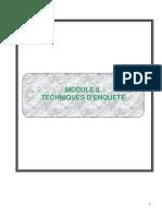 Module II_Techniques d'Enquête