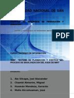 Sistema de Planeacion y Control de Agua Desalinizada
