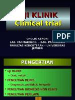 5. Uji Klinik Obat (dr. Cholis).ppt