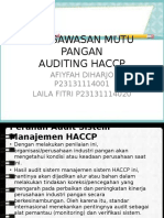 Auditing HACCP