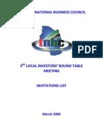 List of Participants - 3rd Lirt - March 2009[1]