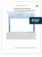 Project on Microsoft word 2007
