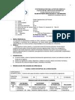 Silabo Diseño Org y Procesos 2011-20