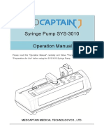 SYS-3010 Syringe Pump Operation Manual_V1.1