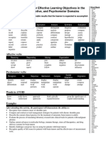 Behavioral Verbs for Effective Learning Objectives 2012