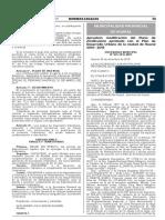 Aprueban modificación del Plano de Zonificación aprobado con el Plan de Desarrollo Urbano de la ciudad de Huaral 2010 - 2015