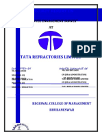 Employee Engagement Survey Project  at Tata Refractories Ltd.