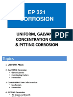 Galvanic,Concentration and Pitting Corrosion