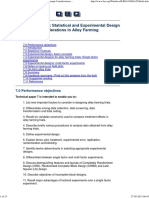 Technical Paper 7 Statistical and Experimental Design Considerations in Alley Farming