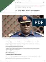 Nigerian ex-defence chief Alex Badeh 'stole $20m' - BBC News