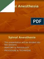 Spinal Anesthesia Vgc07