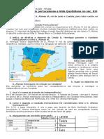 5º Teste - Formação Do Condado Portucalense e Vida Quotidiana No Séc
