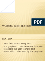 Working With Textbox