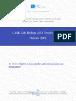 Biology 2013 Unsloved Paper Outside Delhi