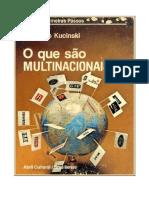 Bernardo Skucinski - O Que Sao Multinacionais