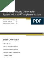 Wind Solar Hybrid Generation System with MPPT implementation.pptx
