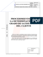 Determinar Grado Satisfaccion Cliente