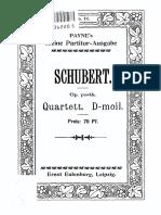 Schubert Quartet D-moll