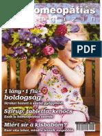 Homeopátiás Magazin IV. Évfolyam 1. Szám