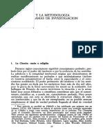 Lakatos La Falsación y La Metodologia de Los Programas de Investigacion Cientifica