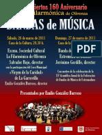 Cartel Concierto de Bandas 160 Aniversario Filarmónica de Olivenza